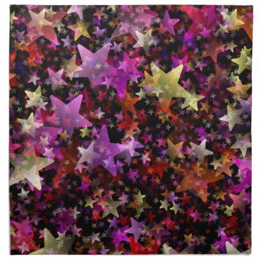 Colores del arco iris del fondo de las estrellas servilletas