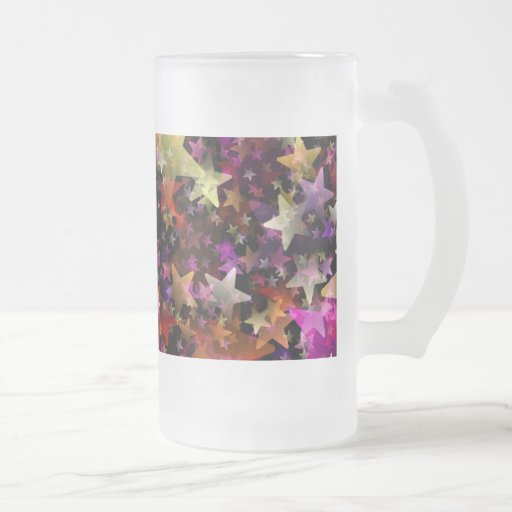Colores del arco iris del fondo de las estrellas tazas de café