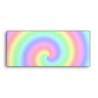 Colores del arco iris. Espiral brillante y colorid Sobres