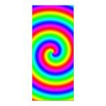 Colores del arco iris. Espiral brillante y Comunicado