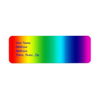 Colores del arco iris etiquetas de remite
