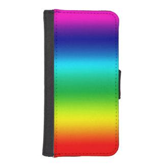 Colores del arco iris fundas billetera de iPhone 5