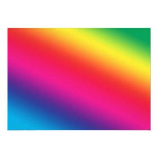 Colores del arco iris comunicado personalizado