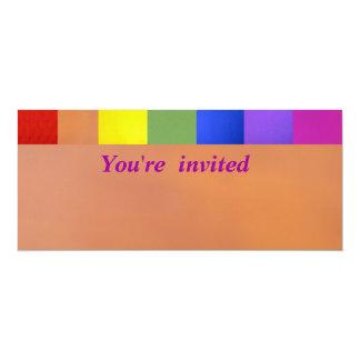 """Colores del arco iris invitación 4"""" x 9.25"""""""