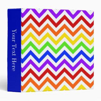 Colores del arco iris, modelo de zigzag grande