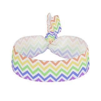 Colores del arco iris modelo de zigzag grande goma de pelo