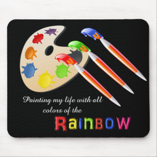 Colores del arco iris mousepad