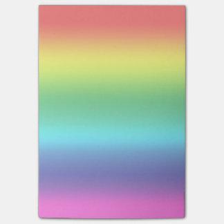 Colores del arco iris notas post-it®