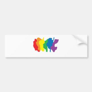 Colores del arco iris - orgullo pegatina para auto