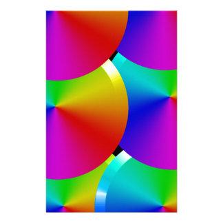 Colores del arco iris papelería personalizada