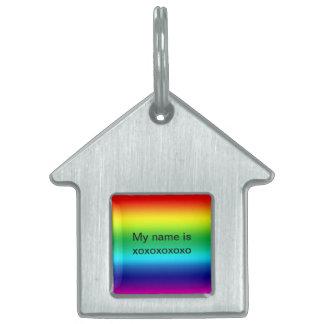 Colores del arco iris placa mascota