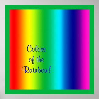 Colores del arco iris póster