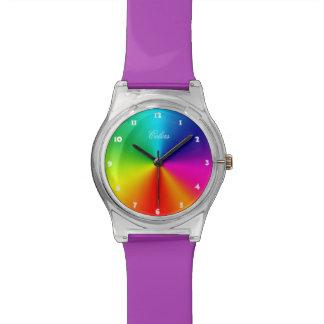 Colores del arco iris reloj de mano
