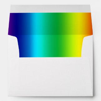 Colores del arco iris sobres