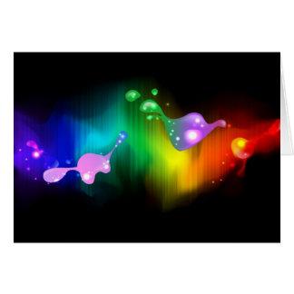 colores del arco iris tarjetas
