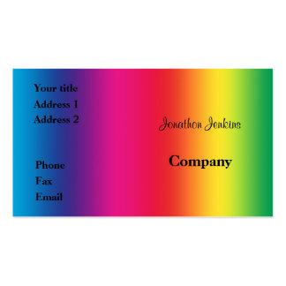 Colores del arco iris tarjetas de visita