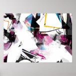 Colores del arte abstracto poster