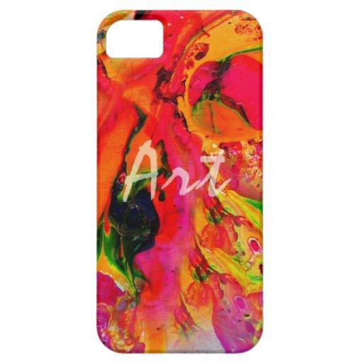 Colores del arte, moda de los descensos de las iPhone 5 carcasas