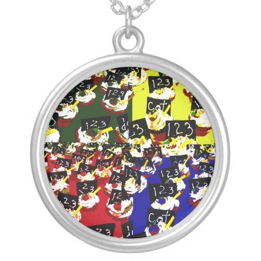 Colores del arte pop de la repetición de la colgante redondo