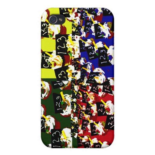 Colores del arte pop de la repetición de la magdal iPhone 4 carcasas