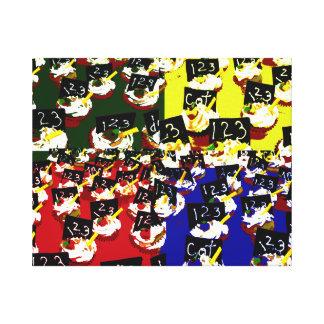 Colores del arte pop de la repetición de la magdal impresión de lienzo