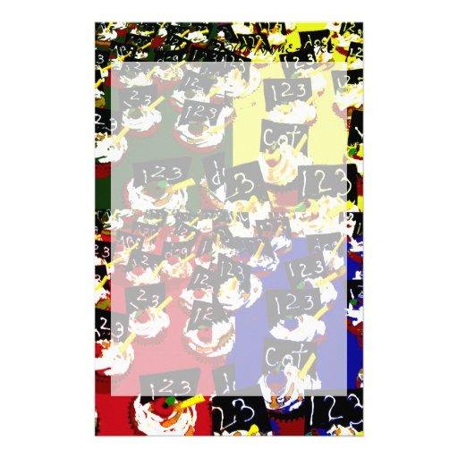 Colores del arte pop de la repetición de la magdal papeleria de diseño