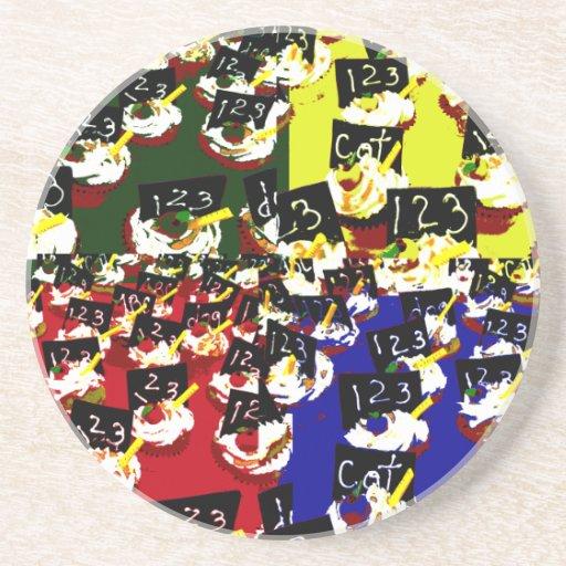 Colores del arte pop de la repetición de la magdal posavasos diseño