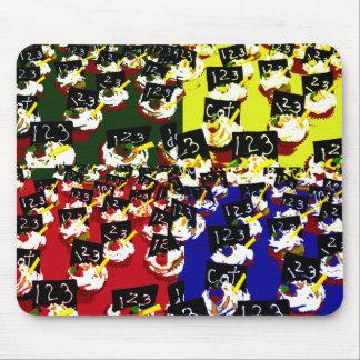 Colores del arte pop de la repetición de la magdal tapetes de raton