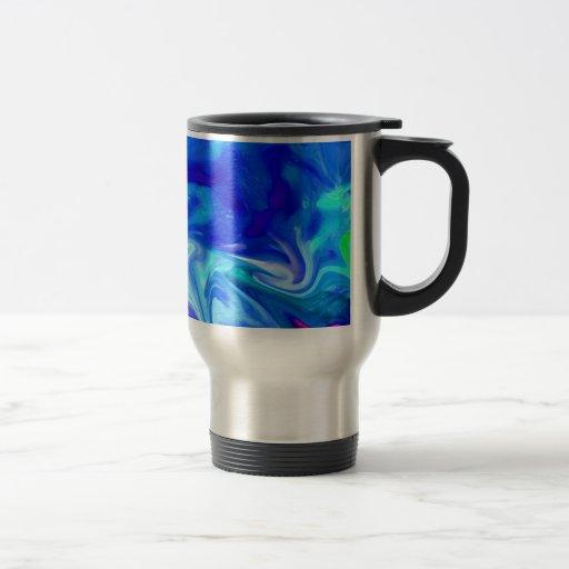 Colores del azul de cobalto taza de viaje de acero inoxidable