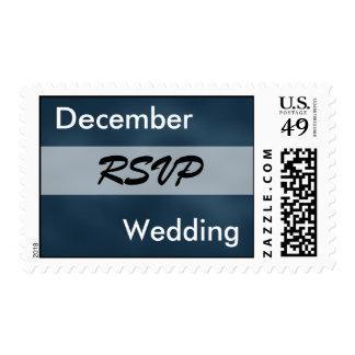 Colores del boda de diciembre sello postal