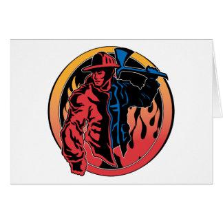 Colores del bombero tarjetón