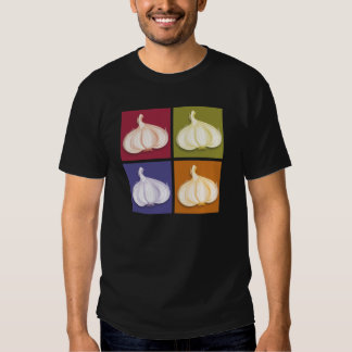 Colores del bulbo del ajo playeras