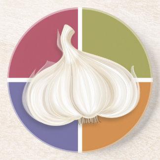 Colores del bulbo del ajo posavasos personalizados