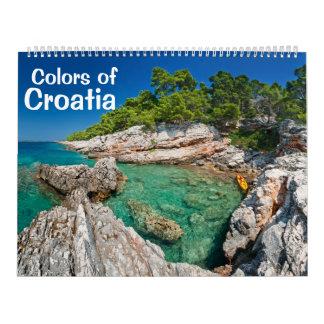 Colores del calendario 2013 de la foto de Croacia