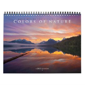 """""""Colores del calendario de pared de la naturaleza"""""""