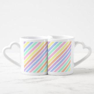 Colores del caramelo tazas para parejas