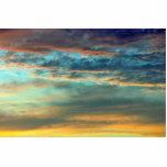 Colores del cielo del deslumbramiento escultura fotográfica
