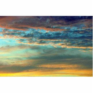 Colores del cielo del deslumbramiento fotoescultura vertical