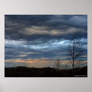 Colores del cielo póster