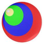 colores del círculo plato de comida