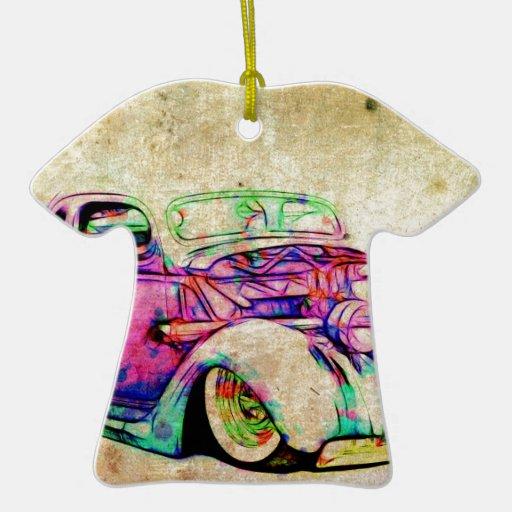 Colores del coche de carreras ornamento de navidad
