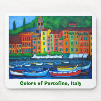 Colores del cojín de ratón de Portofino Tapete De Ratón