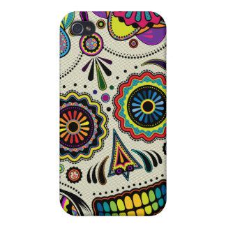 Colores del cráneo del azúcar iPhone 4/4S carcasas