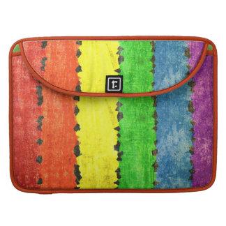 Colores del creyón del arco iris funda para macbook pro