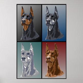 Colores del Doberman Impresiones