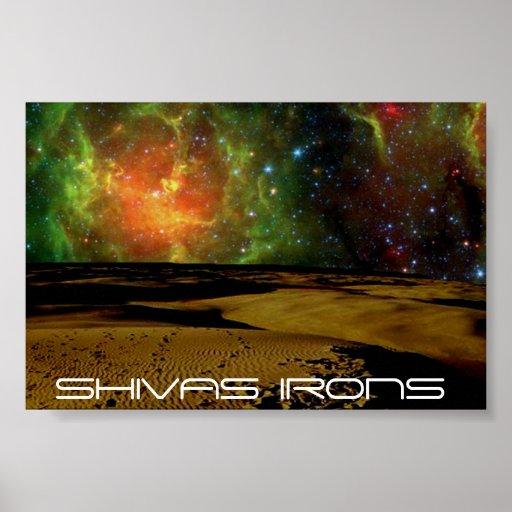colores del espacio de los hierros de los shivas poster