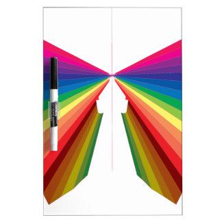Colores del espectro del arco iris de la chispa tableros blancos