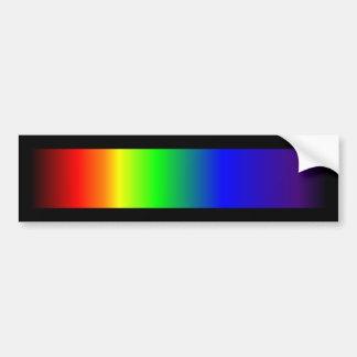 Colores del espectro del arco iris del orgullo gay pegatina para auto