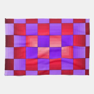 Colores del espectro del tablero de ajedrez X1 Cri Toalla De Cocina
