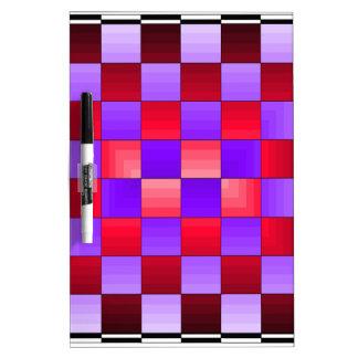 Colores del espectro del tablero de ajedrez X1 Cri Pizarras Blancas